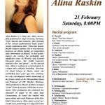 Solo recital at UBC Recital Hall on 21 Feb-2004, Canada